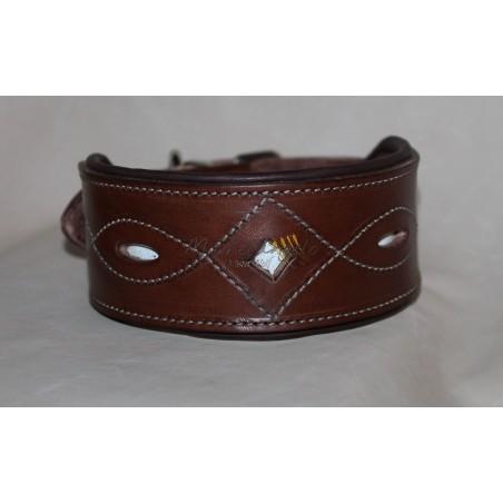 Leather collar Pisa