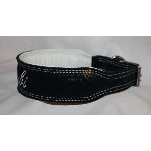 Leather collar whit name
