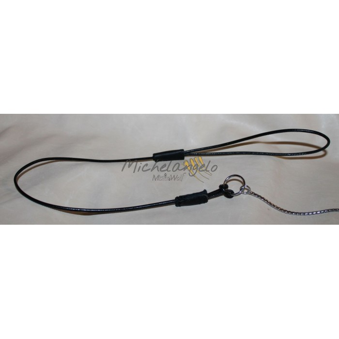 Leather leash whith loop for dog show