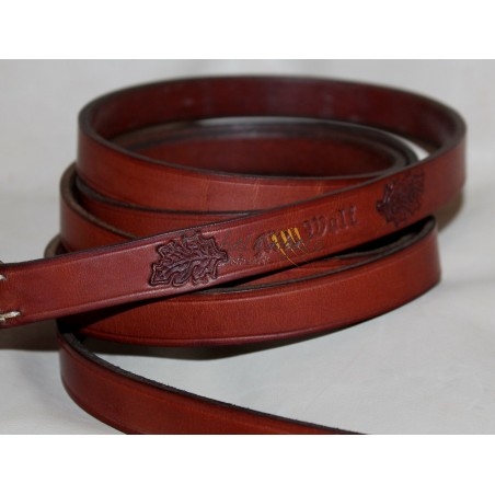 Leash in leather