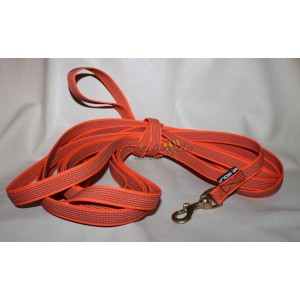 rubberized nylon long leash