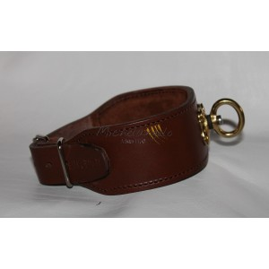 Collar in leather with pulley