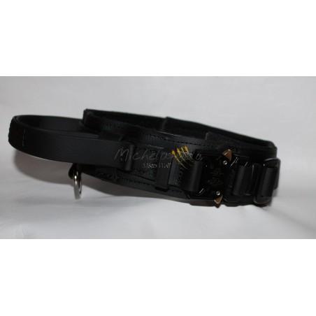 Biothane collar with retractable handle