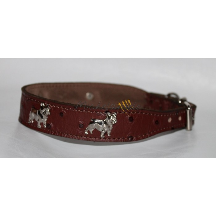 Bouledogue Francais collar and leash