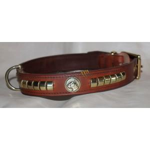 Leather collar for Bull Terrier