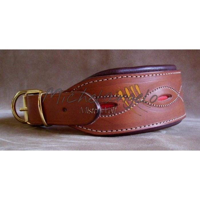 Leather collar Siena