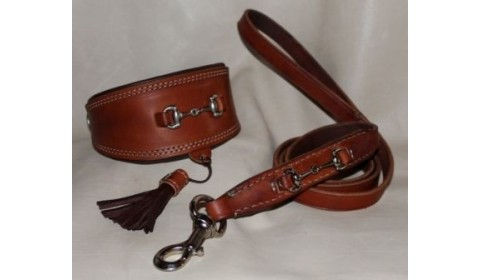 Leather collars for Greyhound  with buckle