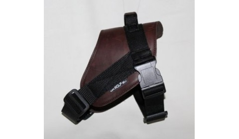 Leather harness for dog